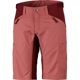 Lundhags Makke Shortsit Naiset, crystal/dark red